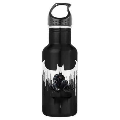 Batman Perched on a Pillar Stainless Steel Water Bottle