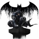 "Batman Perched on a Pillar Statuette<br><div class=""desc"">Batman: Arkham Knight | Check out Batman poised atop a pillar as he watches over Gotham!</div>"