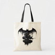 batman, arkham knight, video game, gotham city, arkham city, arkham asylum, harley quinn, joker, scarecrow, bat logo, arkham villains, dc comics, dark knight, wb games, super hero, Bag with custom graphic design