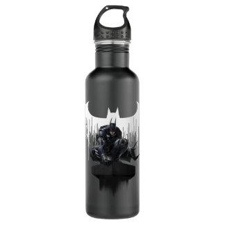 Batman Perched on a Pillar Water Bottle
