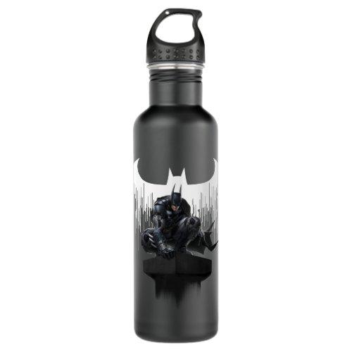 Batman Perched on a Pillar Water Bottle