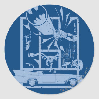 Batman - Picto Blue Classic Round Sticker