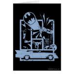 Batman - Picto Blue Greeting Card