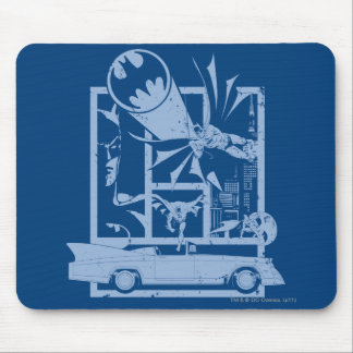 Batman - Picto Blue Mouse Pad