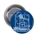 Batman - Picto Blue Pinback Button