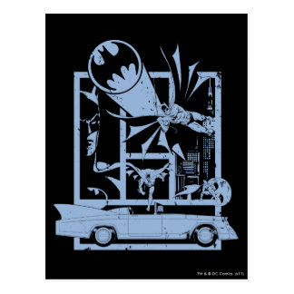 Batman - Picto Blue Postcard