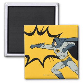 Batman Punch 2 Inch Square Magnet