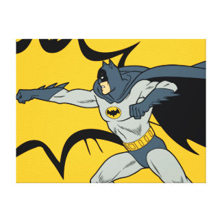 Batman Punch Canvas Print