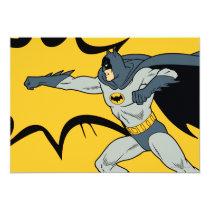 invitations, vintage, retro, batman punch, batman, bat man, 1966 batman, 60's batman, batman action callout, action words, fighting sound effect words, punching sounds, adam west, burt ward, batman tv show, batman cartoon graphics, super hero, classic tv show, Invitation with custom graphic design