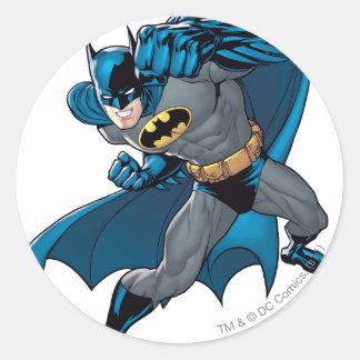 Batman Punch Classic Round Sticker