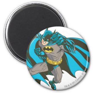 Batman Punching 1 2 Inch Round Magnet