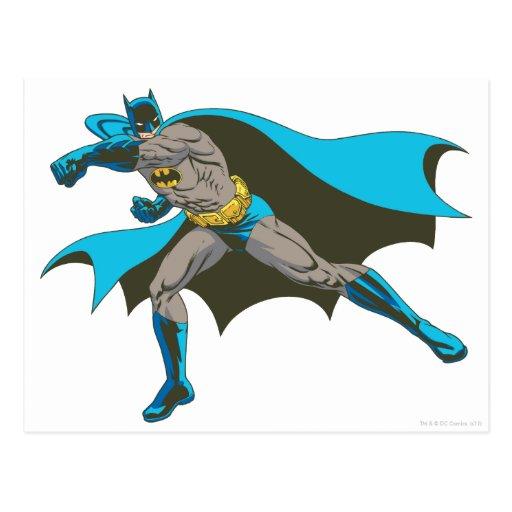 Batman Punching 2 Post Cards