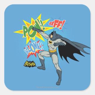 Batman Punching Graphic Square Sticker