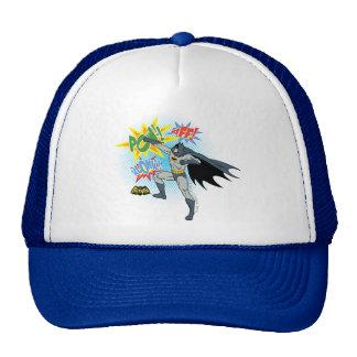 Batman Punching Graphic Trucker Hat