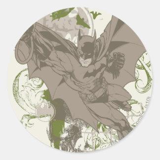 Batman que balancea el collage con el cráneo pegatina