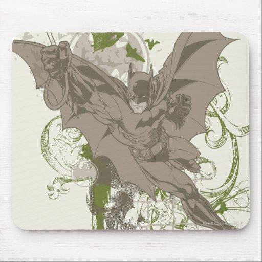Batman que balancea el collage con el cráneo alfombrilla de raton