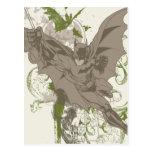 Batman que balancea el collage con el cráneo tarjeta postal