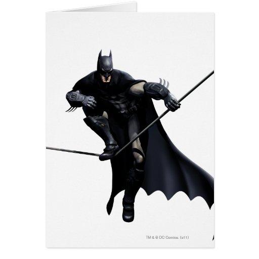 Batman que camina en línea tarjeta