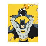 Batman que corre con la bomba impresión en lona