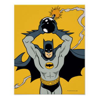 Batman que corre con la bomba póster