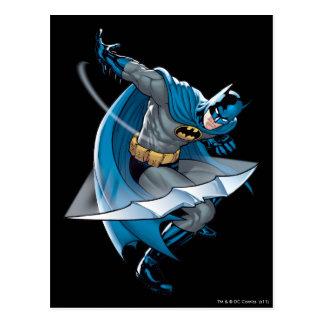 Batman que lanza la estrella tarjetas postales