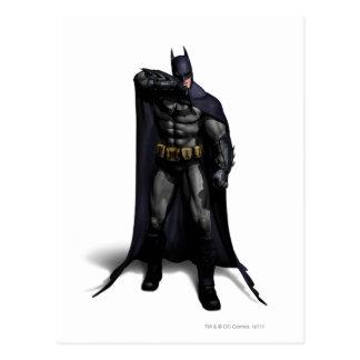 Batman que limpia su frente tarjetas postales