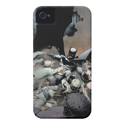 Batman que lucha a enemigos del arco iPhone 4 cárcasas
