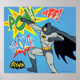 Batman que perfora el gráfico póster