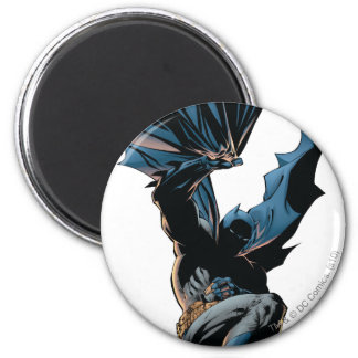 Batman que salta abajo de tiro de la acción imán redondo 5 cm