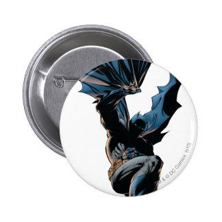 Batman que salta abajo de tiro de la acción pin redondo 5 cm