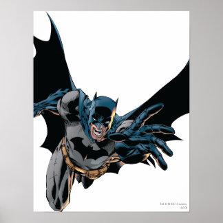 Batman que salta adelante grito posters