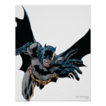 Batman que salta adelante, grito posters