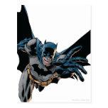 Batman que salta adelante, grito tarjetas postales