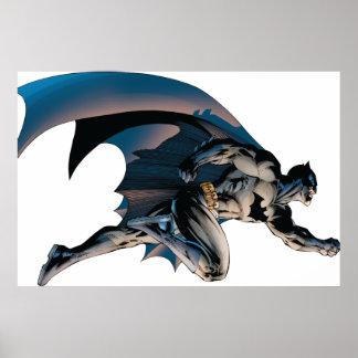 Batman que salta vista lateral posters
