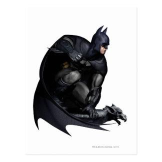 Batman que se agacha tarjetas postales