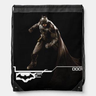 Batman que se coloca con el cabo mochilas