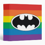 Batman Rainbow Logo 3 Ring Binder