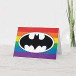 Batman Rainbow Logo Card
