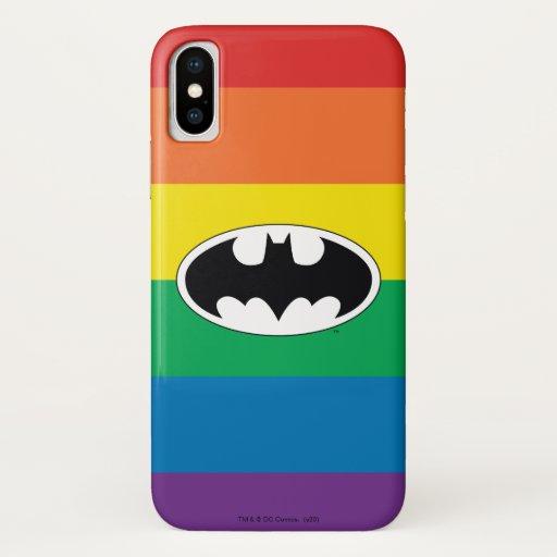 Batman Rainbow Logo iPhone X Case