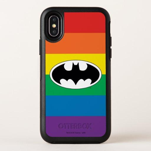 Batman Rainbow Logo OtterBox Symmetry iPhone X Case
