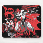 Batman Red and Black Collage Mouse Pad