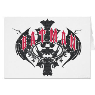 Batman | Red and Black Logo Card
