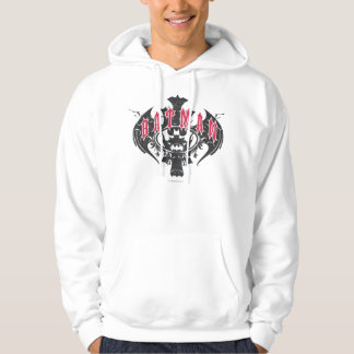 Batman | Red and Black Logo Hoodie