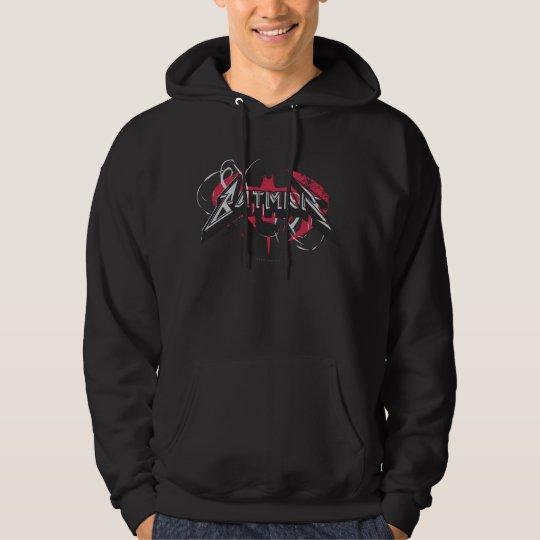 Batman | Red and Black Logo Hoodie