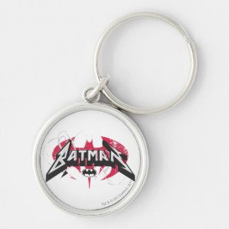 Batman | Red and Black Logo Keychain