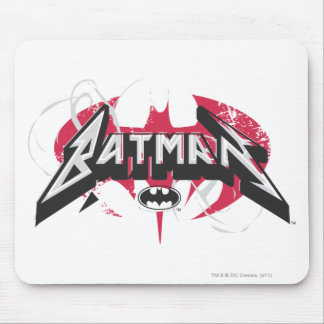 Batman | Red and Black Logo Mouse Pad