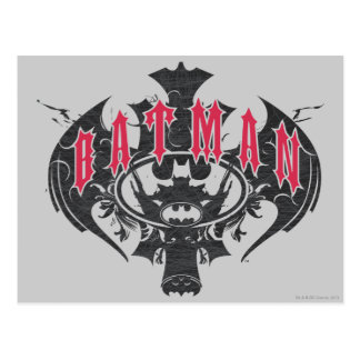 Batman | Red and Black Logo Postcard