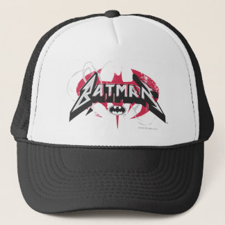 Batman | Red and Black Logo Trucker Hat