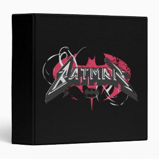 Batman Red and Black Logos Vinyl Binders