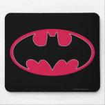 Batman Red Black Logo Mousepads